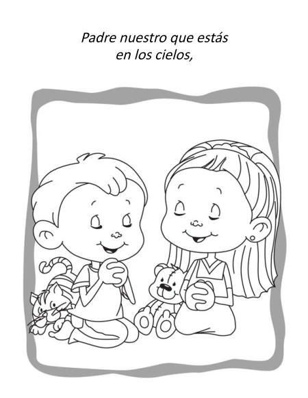 El Padrenuestro – Cuaderno para Colorear – iCharacter en Español