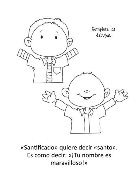 El Padrenuestro – Cuaderno para Colorear – iCharacter – Español