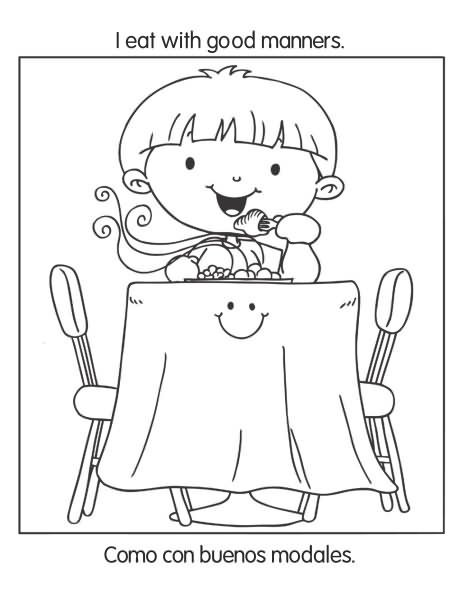 Free Hygiene And Good Habits Coloring Pages