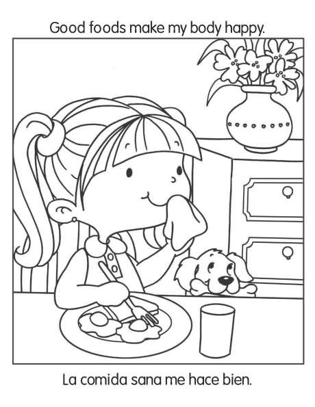 Buenos hábitos de salud y nutrición – Cuaderno para colorear ...