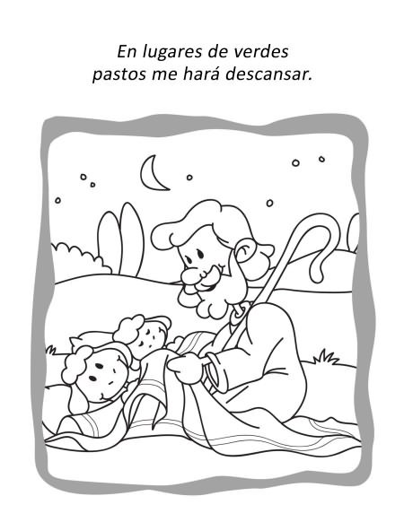 Salmo 23 - Cuaderno para colorear y de actividades