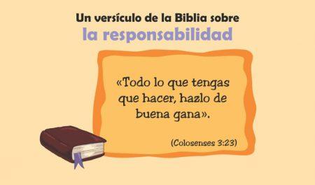 La Biblia y la responsabilidad