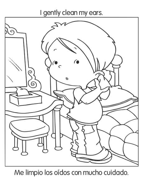 Free coloring pages of hygiene and good habits for Healthy habits coloring pages